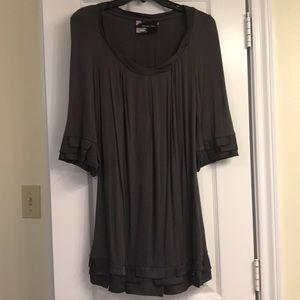 Grey Ruffle Dress